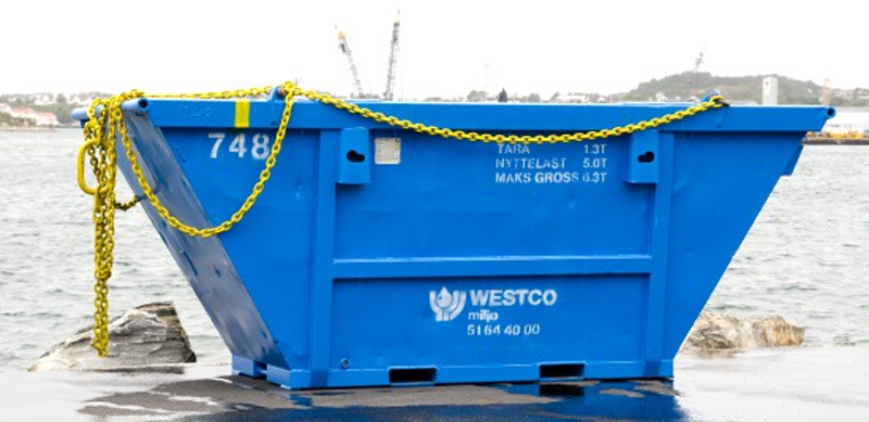 8m³ open offshore container